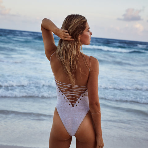 Contour low back one piece swimsuit