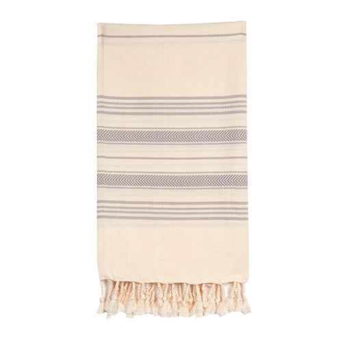 EXCLUSIVE Turkish beach towel in Grey Chevron