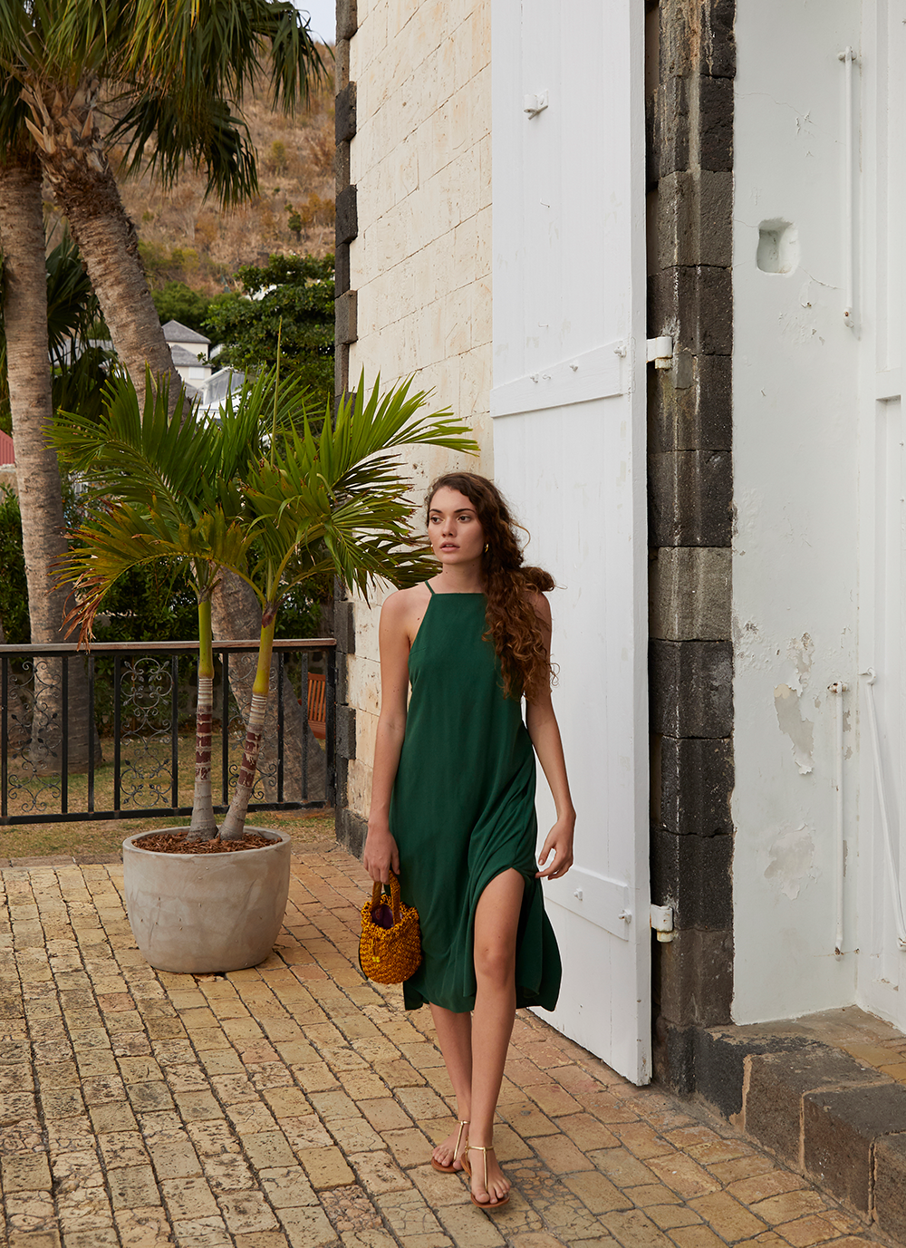 Isla Dress in jade