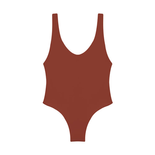 Contour one piece swimsuit in Canyon