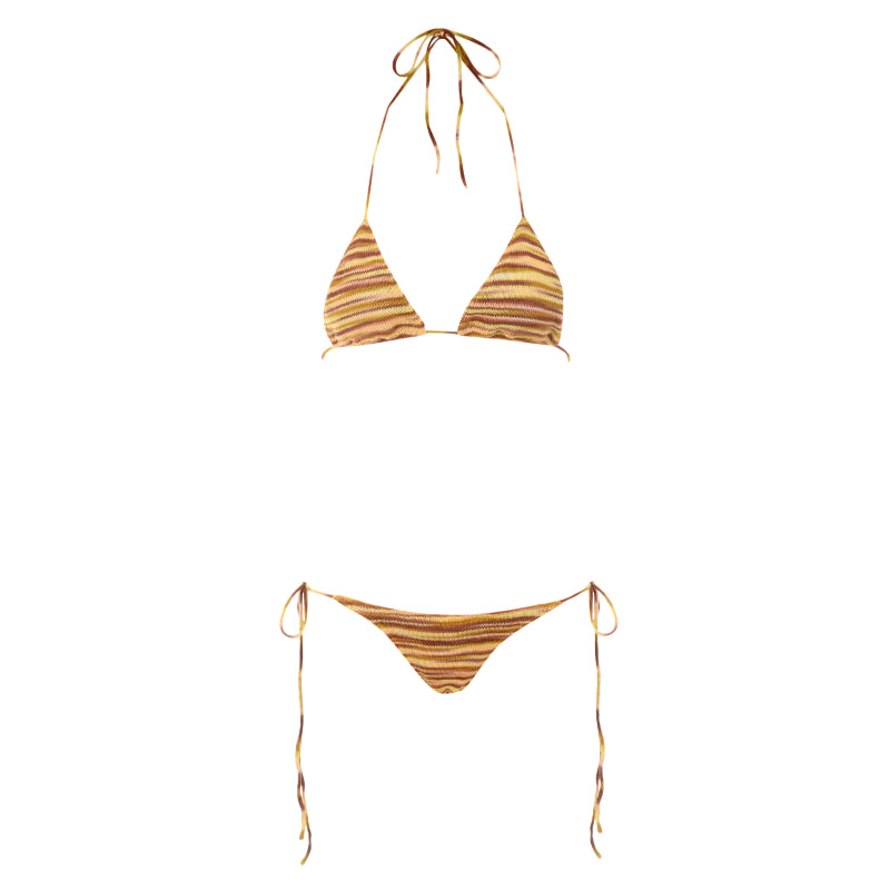 Lunar striped bikini set