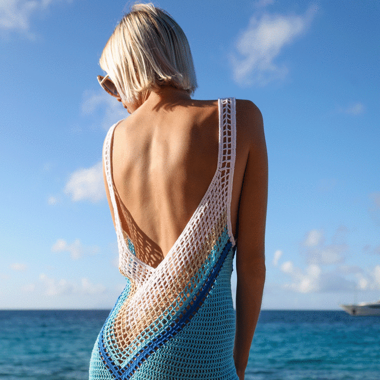 Crochet Cotton Mini Dress