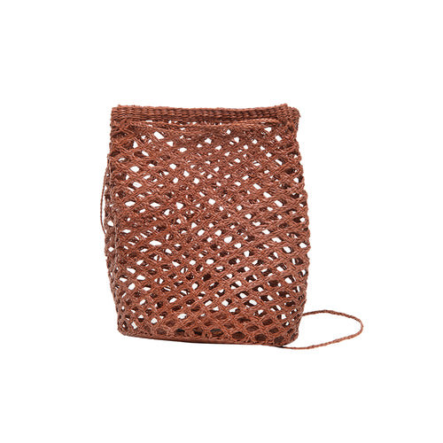Turi woven terracotta shoulder bag