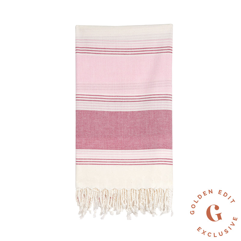 EXCLUSIVE Turkish beach towel in Wine
