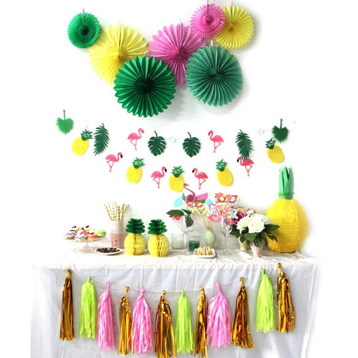 Tropical Flamingo and Pineapple Themed Party Decorations