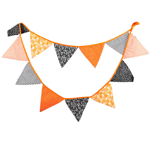 Halloween Themed Fabric Pennant Flag Bunting Banner