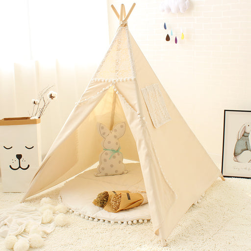 Kid's Canvas and Lace Play Teepee