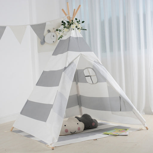 Kid's Striped Canvas Play Teepee