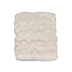 lush faux fur throw