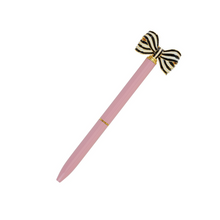 Load image into Gallery viewer, striped bow pen (4 colors)