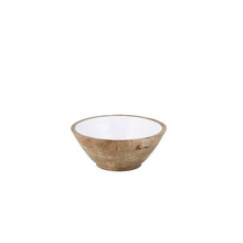 Load image into Gallery viewer, wood and enamel bowl