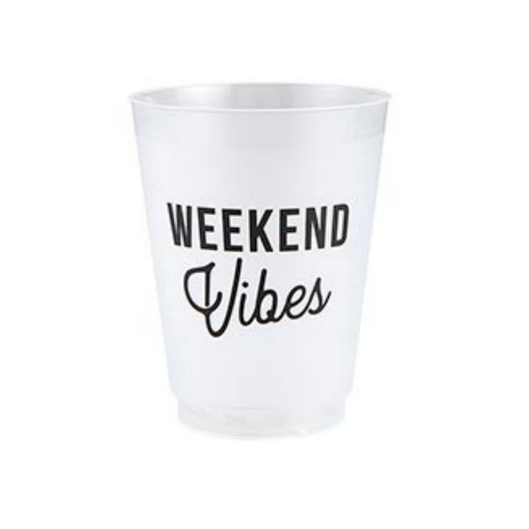 weekend vibes frosted cups