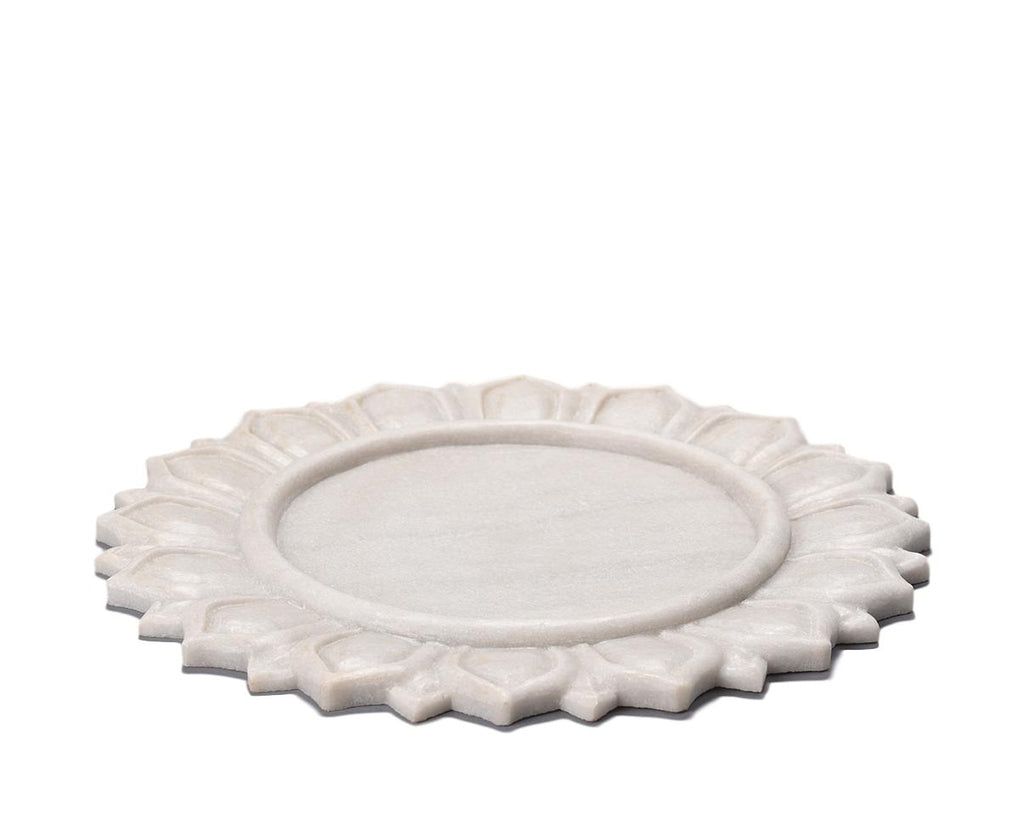 Marble Carved Plate / Charger