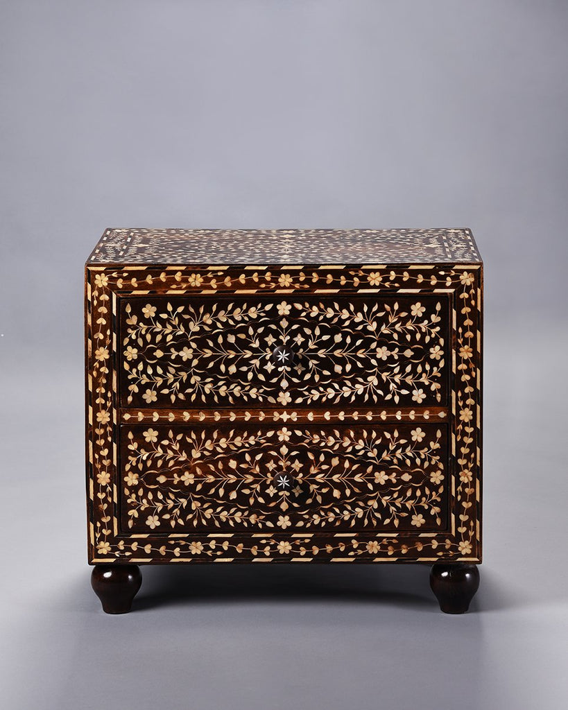 Mother of Pearl Inlaid Nightstand