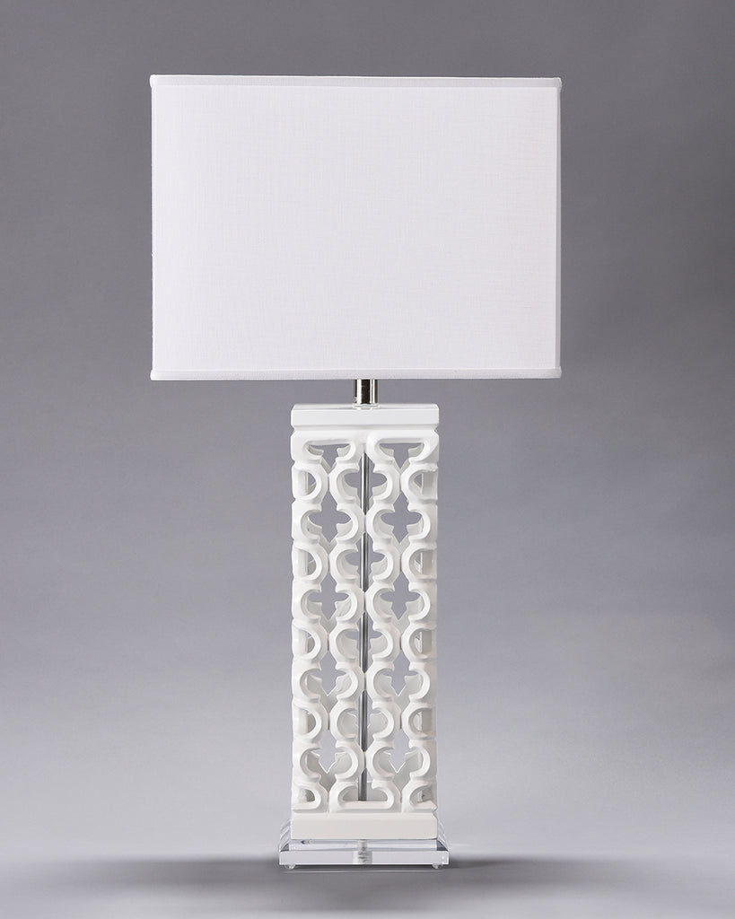 Wooden Jali Lamp - Square