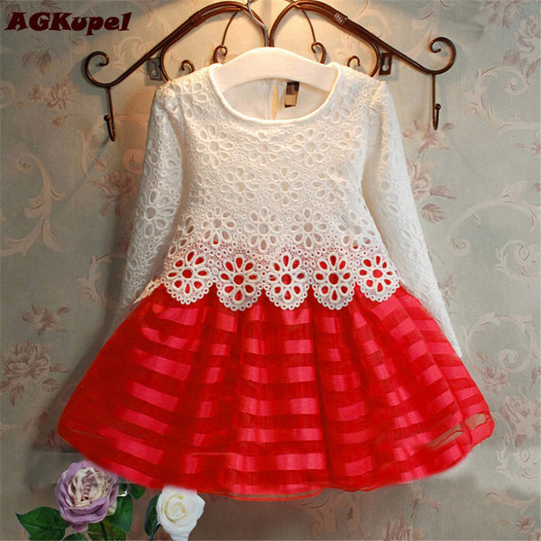 2017 3 8y Toddler Baby Girls Kids Tutu Crochet Lace Dress Long