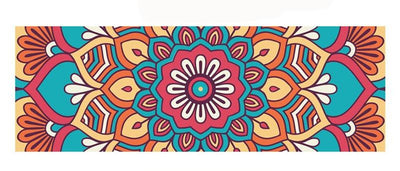 "Tapis de Yoga ""Fleuri"" - 5MM - Rouge - Feel-Yoga - yoga"