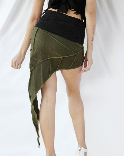 Fold Over Long Leaf Skirt
