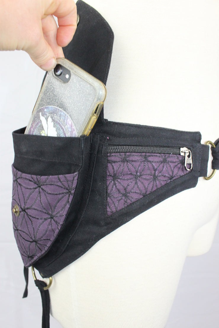 ABO-507 Double Pocket Flower of Life Belt