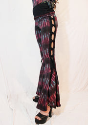 WPO-602B Tie Dyed Braided Bell Bottoms
