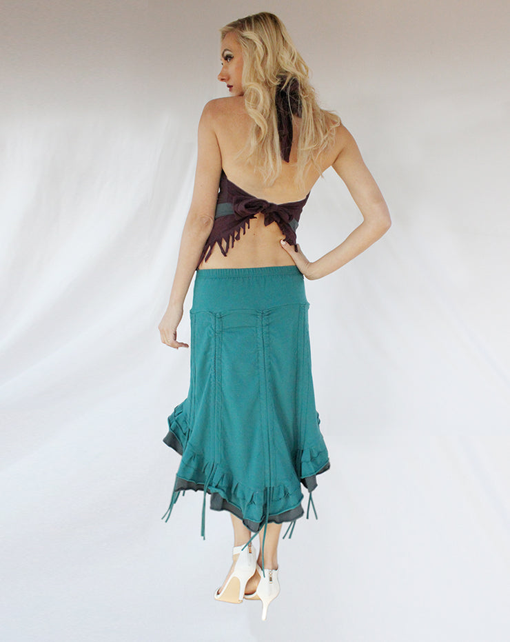 WSO-502 High Low Steampunk Skirt