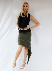 WSO-508 Fold Over Long Leaf Skirt