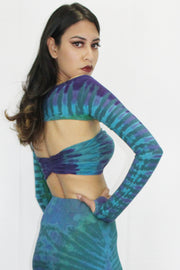 WTO-512B Just Sleeves in Multi Tie Dye