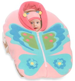 SNUGAROO CAR SEAT COVER WITH BUTTERFLY