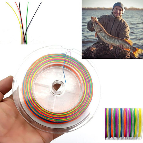 100m PE Multifilament 4 Strands Braid Line Ocean Fishing Super Strong Carp Colorful Braided Fishing Line  #E0
