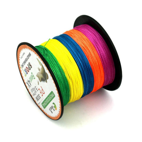 300m Color mulifilament PE Braided fishing line 4 strands Super Strong braided wires #E0