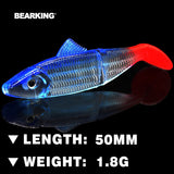 Bearking hot LURE JX03-05 Fishing Lure 10PCS 1.8g 50MM Retail hot model fishing lures soft bait quality lure