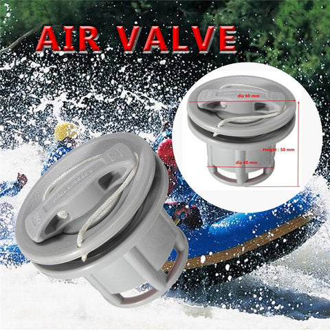 New Grey Air Gas Valve Cap for Inflatable Boat Tender Raft Dinghy Kayak Canoe Double Seal Boat Air Rowing Boats Accessories
