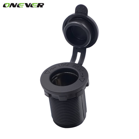 Onever Power adapter 12V Waterproof Car Accessory Cigarette Lighter Socket  Plug Outlet for Boat Tractor Motorcycle