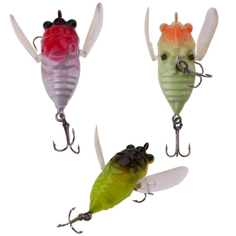 5cm 6.5g Cicada Fishing Lure 3d Eyes Bait Crankbait Wobblers Artificial Popper Hard Bait Fishing Tackle Pesca Lures