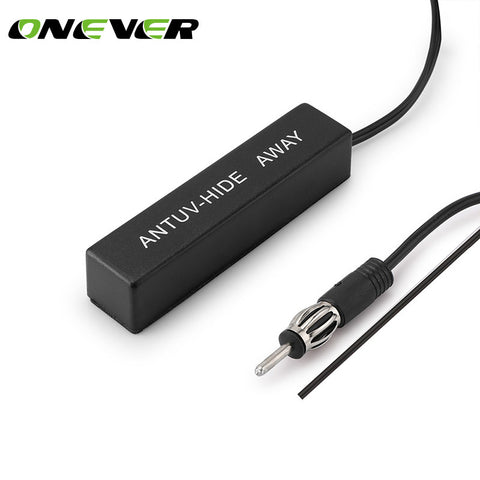 Onever Car Hidden Amplified Antenna Kit 12v Electronic Stereo AM/FM Radio for Vehicle Truck Motorcycle Boats