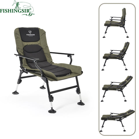 Ultimate Outdoor Adjustable Folding Breathable Picnic Beach Garden Camping Summer Fishing Chair With Adjustable Legs Bags Tackle