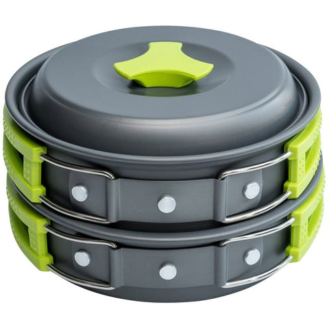 Jeebel 10 Pcs Portable Camping Cookware Set