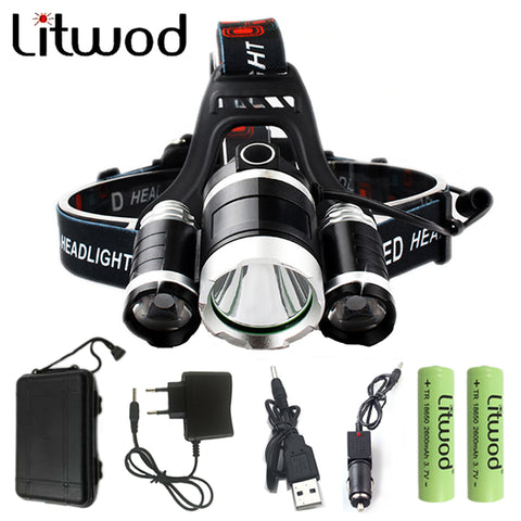 3 XM-L T6 LED Head Lamp