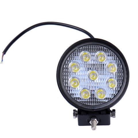 2Pcs 27W Round LED Flood Work Light Spotlight Car Jeep SUV Offroad Boat Lamp 12V 24V