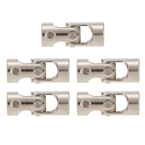 5pcs Stainless Steel 4 to 3.17mm Full Metal Universal Joint Cardan Couplings for RC Car and Boat D90 SCX10 RC4WD