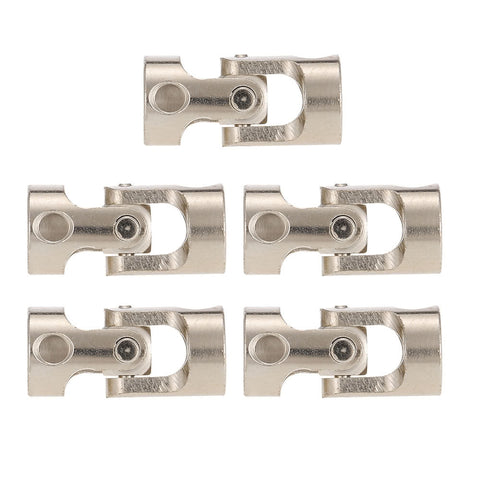 5pcs Stainless Steel 5 to 5mm Full Metal Universal Joint Cardan Couplings for RC Car and Boat D90 SCX10 RC4WD