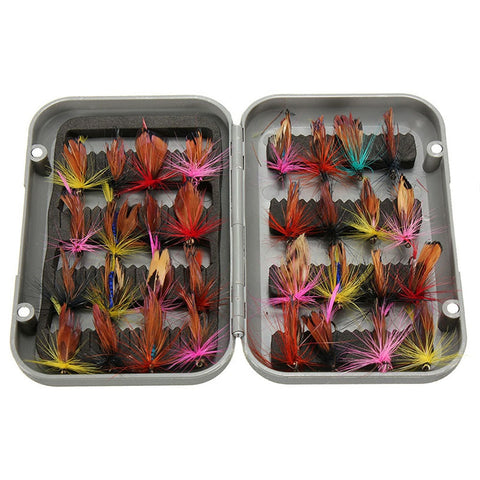 32pcs Fly Fishing Lure Set Insect Artificial Bait Trout Fly Fishing Hooks Tackle with Box Butterfly Lure Pesca Dropshipping
