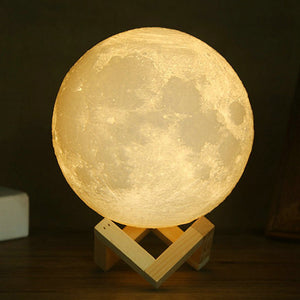 3D Moon Light with Base