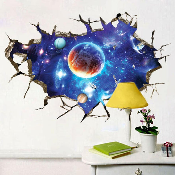Large Space Crack Wall Sticker