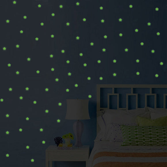 Glow in the Dark Luminous Stars Wall Stickers