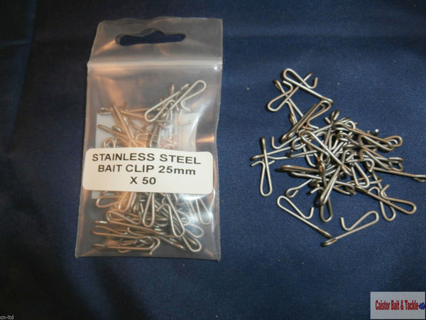 Bait Clips Use With Pulley and Other Sea Rigs, Stainless Steel - Caistor Tackle