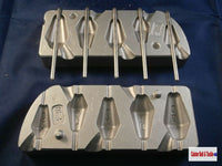 Inline Dumpy  Mould, Hexagonal 20-60grm Boat and Pier fishing weights Cod Sea - Caistor Tackle