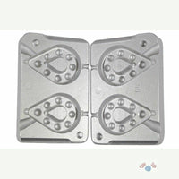 Aluminium Mould for 2 Pear Shaped Dumpy Grippa Weights 250/280gram