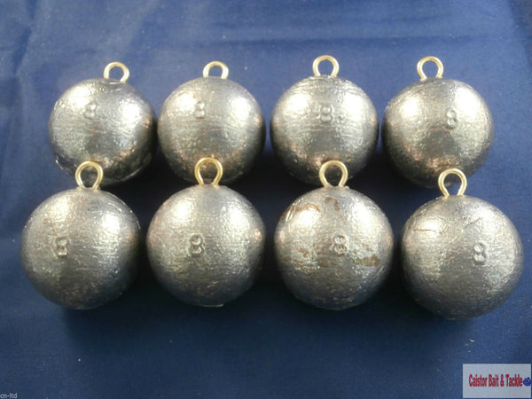 Cannon Ball Boat Leads Weights sinkers. Fast Down 10 or 8oz, Wreck Fishing