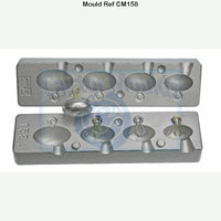 Aluminium mould for back drop leads  specimen carp fishing pier and lrf fishing - Caistor Tackle
